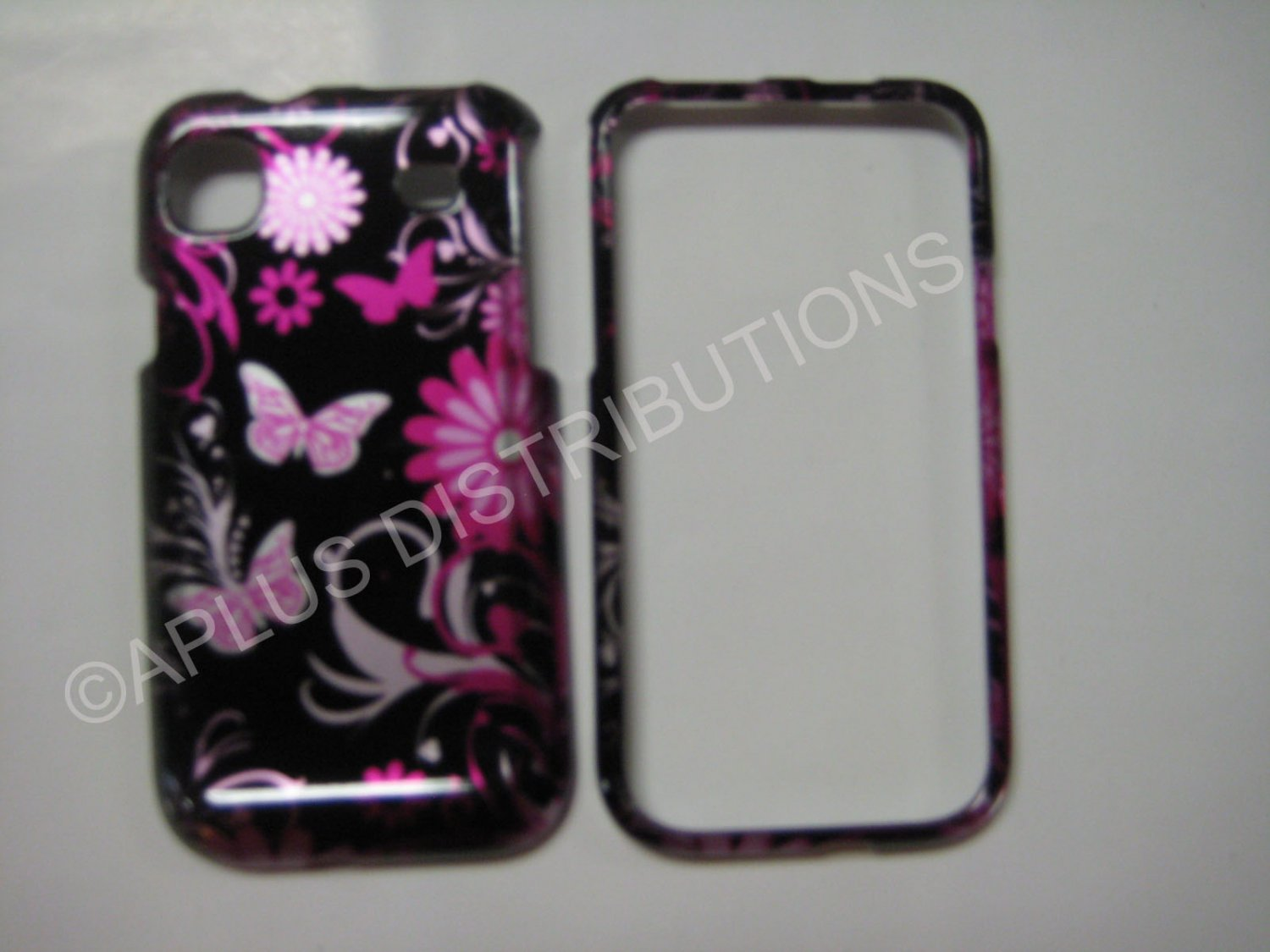 New Pink 3D Butterfly Hard Protective Cover For Samsung Galaxy S I9000 - (0012)