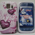 New Pink Two Heart Design TPU Cover For LG Optimus S LS670 - (0020)
