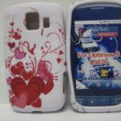 New Red Multi-Heart Vines Design TPU Cover For LG Optimus S LS670 - (0027)