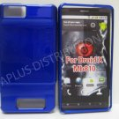 NEW Blue Solid Color Hard Protective Cover For Motorola Droid X MB810 - (0067)