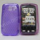 New Purple Diamond Cut PatternTPU Cover For LG Optimus S LS670 - (0012)