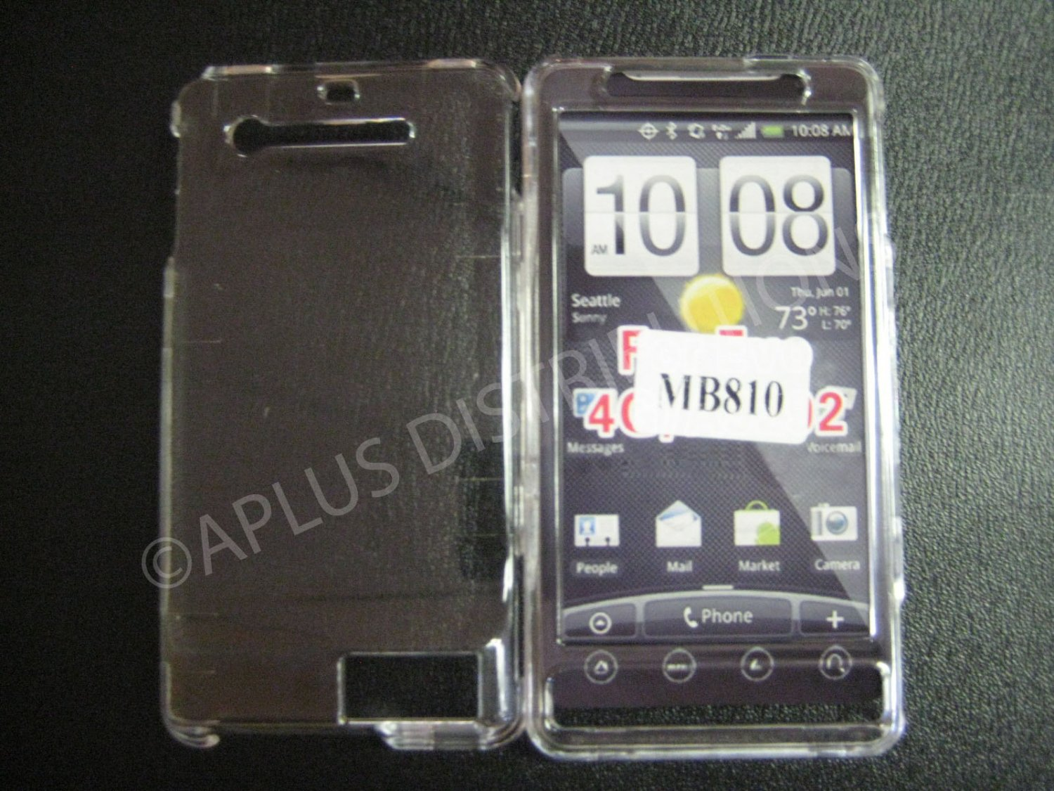 NEW Clear Solid Color Hard Protective Cover For Motorola Droid X MB810 - (0059)