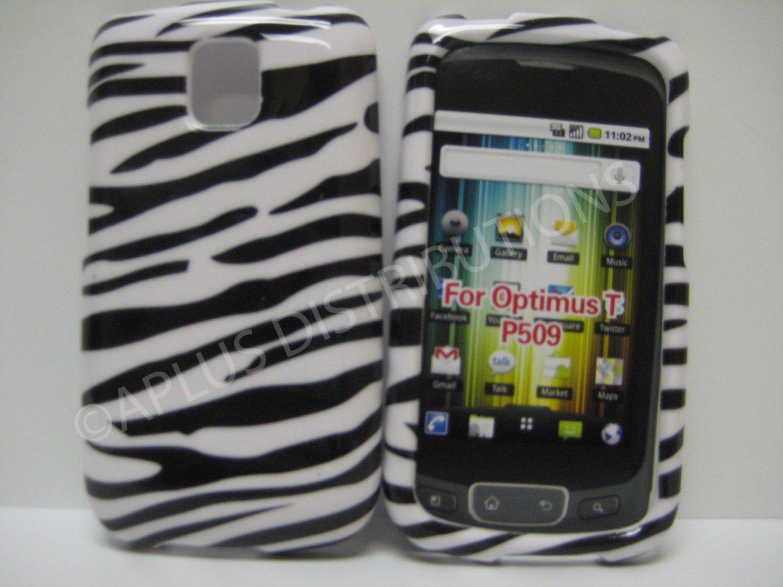 New Black & White Zebra Design Hard Protective Cover For LG Optimus T P509