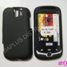 New Black Rubberized Hard Protective Cover For HTC My Touch Slide 3G - (0051)