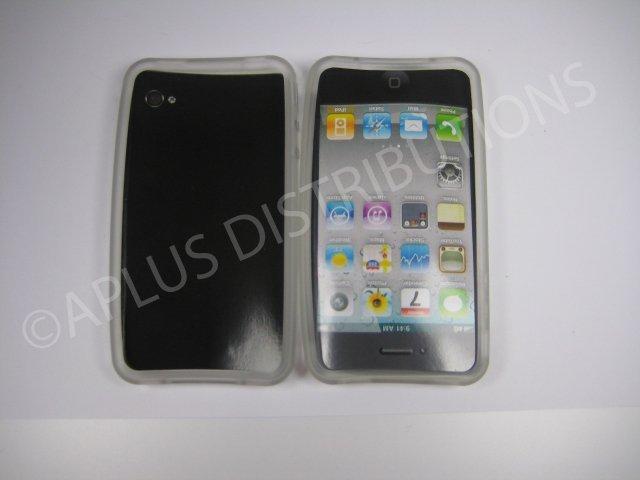 New Clear Bumper Design TPU Cover For iPhone 4 - (0053)