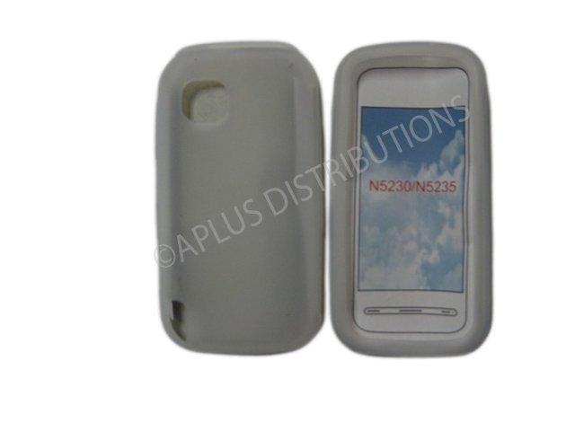New Clear Solid Color Silicone Skin Case For Nokia Nuron 5230 - (0007)