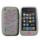 New White Primo Bricks Design Silicone Cover For iPhone 3G 3GS - (0040)