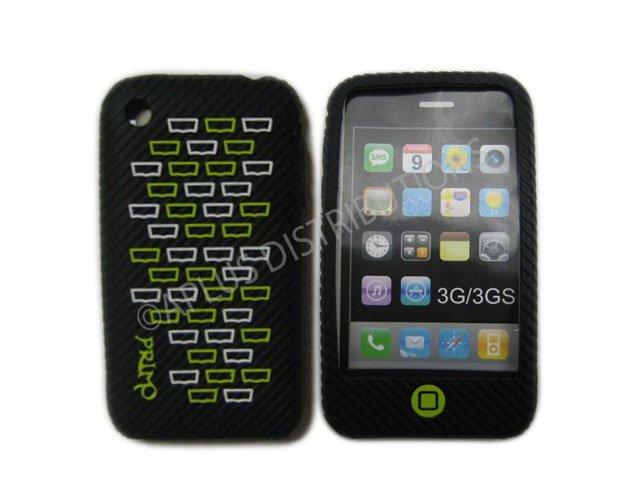 New Black Primo Bricks Design Silicone Cover For iPhone 3G 3GS - (0038)