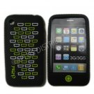 New Black Primo Bricks Design Silicone Cover For iPhone 3G 3GS - (0038)