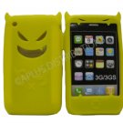 New Yellow Devil Design Silicone Cover For iPhone 3G 3GS - (0194)