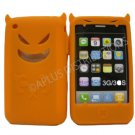 New Orange Devil Design Silicone Cover For iPhone 3G 3GS - (0111)