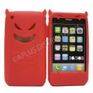 New Red Devil Design Silicone Cover For iPhone 3G 3GS - (0183)