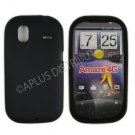 New Black Solid Color Silicone Cover For HTC Amaze 4G