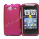 New Hot Pink Solid Color Hard Rubberized Case Cover For HTC Evo Shift 4G