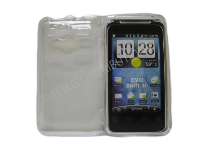New Clear Transparent Hard Protective Case Cover For HTC Evo Shift 4G