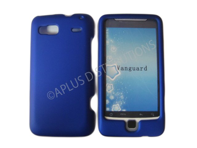 New Blue Solid Color Hard Rubberized Case Cover For HTC G2 4G - Vanguard