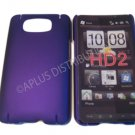 New Purple Solid Color Hard Rubberized Case Cover For HTC HD 2
