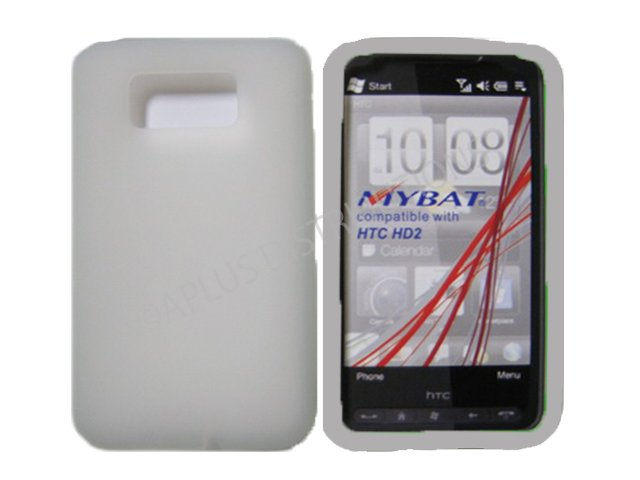 New Clear Solid Color Silicone Skin Case For HTC HD 2
