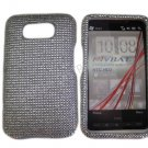 New Solid White Design Crystal Bling Diamond Case Cover For HTC HD 2