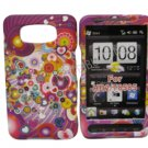 New Groovy Series Design Hard Rubberized Case Cover For HTC HD 2