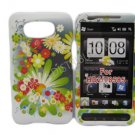 New Flower Series Design Hard Rubberized Case Cover For HTC HD 2