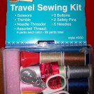 EMERGENCY SEWING KIT, NEEDLES ,THREAD,THIMBLE,SCISSORS.