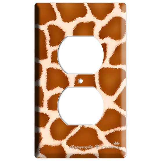 GIRAFFE SKIN ANIMAL PRINTS KIDS ROOM ELECTRIC POWER OUTLET WALL PLATE COVER