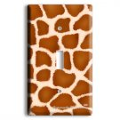 GIRAFFE PRINT KIDS ROOM DECOR SINGLE LIGHT SWITCH WALL PLATE COVER