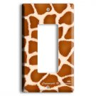 GIRAFFE ANIMAL SKIN PRINTS KIDS ROOM GFI DECORA ROCKER SINGLE LIGHT SWITCH/OUTLET WALL PLATE COVER