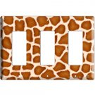 GIRAFFE SKIN ANIMAL PRINTS KIDS ROOM DECO ROCKER TRIPLE LIGHT SWITCH PLATE
