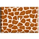 GIRAFFE ANIMAL SKIN PRINTS KIDS ROOM DECOR TRIPLE LIGHT SWITCH PLATE