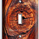 RUSTED OLD WOOD EYE RUSTIC SINGLE LIGHT SWITCH WALL PLATE KITCHEN LOG CABIN DECO
