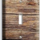 WORN OUT OLD RUSTIC WOOD SINGLE LIGHT SWITCH WALL PLATE KITCHEN LOG CABIN DECO