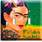COLORFUL PORTRET FRIDA KAHLO MEXICAN ARTIST DOUBLE LIGHT SWITCH WALL PLATE COVER