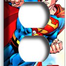 SUPERMAN SUPERHERO COMICS DUPLEX OUTLET WALL PLATE COVER BOYS BEDROOM HOME DECOR