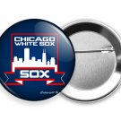 CHICAGO WHITE SOX COOPERSTOWN BASEBALL TEAM PIN PINBACK BUTTON SPORTS FAN GIFT