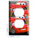 NEW CARS 3 LIGHTNING MCQUEEN DISNEY OUTLET COVER PLATE BOYS GAME ROOM DECORATION
