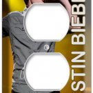 JUSTIN BIEBER SINGING LIVE CONCERT POSTER DVD ELECTRICAL OUTLET COVER WALL PLATE