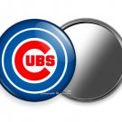 CHICAGO CUBS BASEBALL TEAM PURSE POCKET HAND MIRROR MLB SPORT GAME FAN GIFT IDEA
