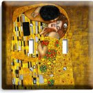 GUSTAV KLIMT THE KISS GOLD PAINTING DOUBLE LIGHT SWITCH WALL PLATE NEW ART COVER