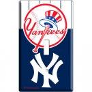 BASEBALL MLB NEW YORK YANKEES SINGLE LIGHT SWITCH PLATE GAME TV ROOM DECORATION