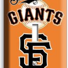 SF SUN FRANCISCO GIANTS MLB TEAM LOGO SINGLE LIGHT SWITCH WALL PLATE COVER DECOR