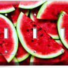 RED WATERMELON TRIPLE LIGHT SWITCH WALL PLATE DINING ROOM KITCHEN HOME ART DECOR