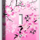 JAPANESE PINK SAKURA CHERRY FLOWERS BLOSSOM SINGLE LIGHT SWITCH WALL PLATE COVER