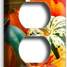 PUMPKINS SQUASH HARVEST OUTLET RECEPTACLE WALL PLATE COVER KITCHEN DINING ROOM