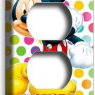 MICKEY MOUSE COLORFUL POLKA DOTS DUPLEX OUTLET WALL PLATE COVER BABY NURSERY ART