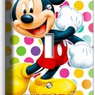 MICKEY MOUSE PASTEL POLKA DOTS SINGLE LIGHT SWITCH WALL PLATE COVER BABY NURSERY