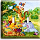 WINNIE THE POOH TIGGER EEYORE PIGLET DOUBLE LIGHT SWITCH WALL PLATE COVER DECOR