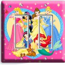 DISNEY PRINCESS DECORA DOUBLE LIGHT SWITCH COVER WALL PLATE COVER GIRLS BEDROOM