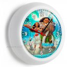 MOANA MAUI PUA PIG CHICKEN HEI WALL CLOCK BABY GIRLS BOYS NURSERY BEDROOM DECOR